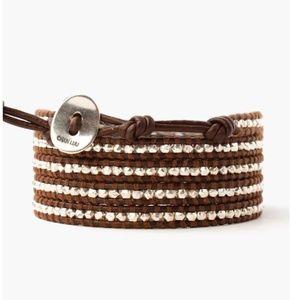 Chan Luu Silver Beaded Wrap Bracelet
